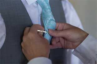 wedding celebration - groom tuxedo make up